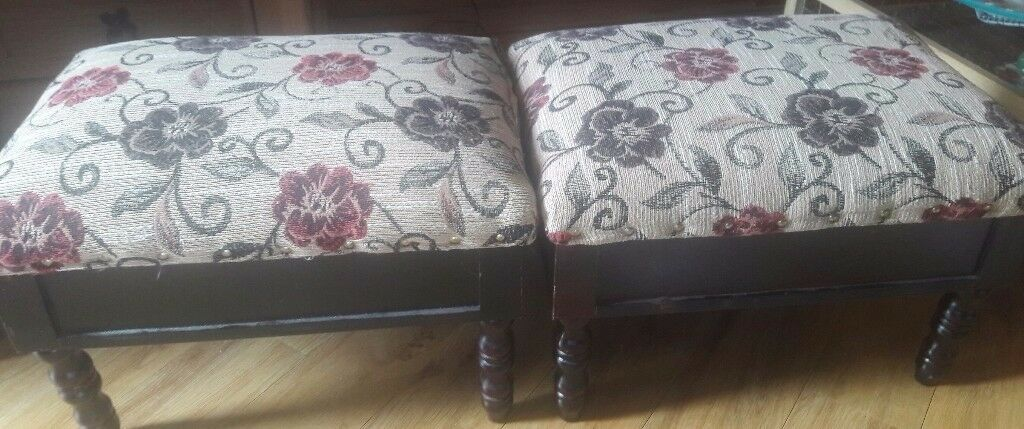 Two storage footstools