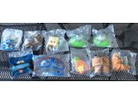 Collection of 10 collectable toys from fast food outlets