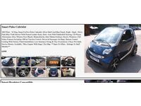Smart car convertible with alloys , one year mot. and heated leather seats