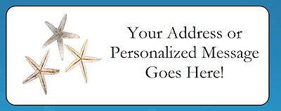 60 Personalized Starfish Beach Return Address Labels