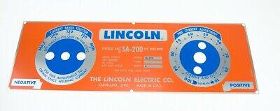 Lincoln Sa-200 Redblue Nameplate M8803 Bw680