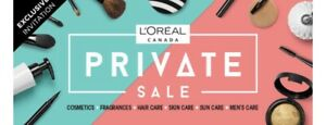Loreal Private Sale 2019 Spring sale ticket