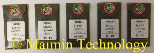 50 90/14 SHARP ORGAN TITANIUM FLAT SHANK 15X1 HAX1 HOME SEWING MACHINE NEEDLES