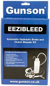 Gunson Eezibleed Brake Clutch Fluid Pedal Vacuum Bleeding Bleeder System Kit