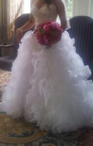 Brand new Eddie K Milano Couture Wedding dress PLUS Veil