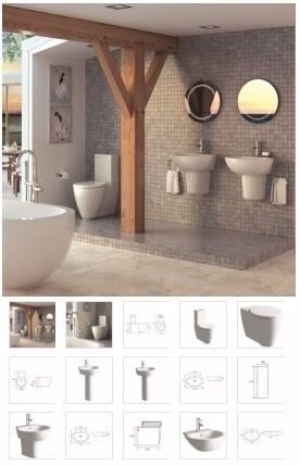 modern toilet and basin from as low as £234