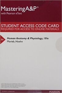 Human Anatomy and Physiology 10/e access code
