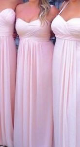 Pale pink bill levkoff bridesmaids dress size 12