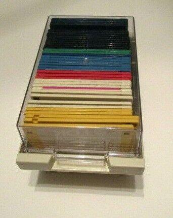 "3.5"" FLOPPY DISK STORAGE BOX CASE HOLDER WITH 40 DISKETTES!"