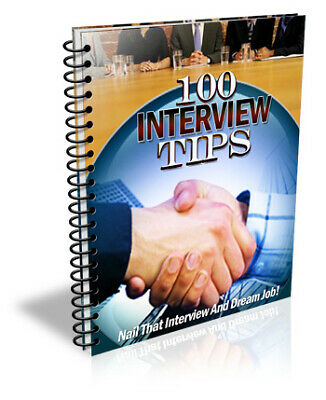 100 Interview Tips eBook PDF Master Resell Rights 10 Free Valuable E books 24hrs