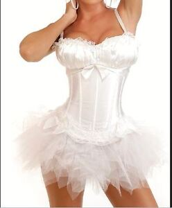 Burlesque Corset & tutu /skirt Fancy dress outfit Halloween Costume High Quality