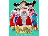 SPIDERMAN Peppa Pig Minion Minions Mascot Mascots Father Christmas Santa Hire Ideas Party Theme Kids