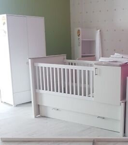 Baby Crib, Armoire and Dresser