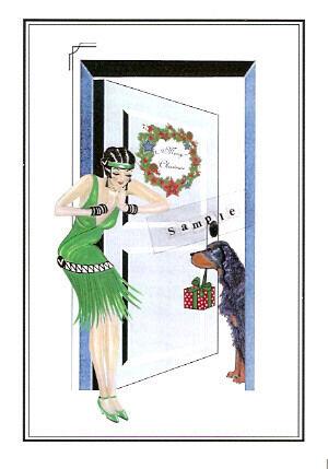 Gordon Setter Christmas Cards Wendy and Gordon - Pack of 10