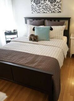 Modern Black IKEA Hemnes QUEEN BED + Mattress Deliver