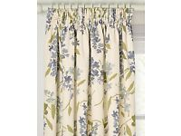 John Lewis Wisteria Lined Pencil Pleat Curtains, Blue