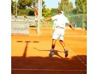 See quick progress Pro Tennis Coach - Tennis Lessons Instructor stringing restringing service