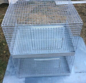 Two Large Stacking Rabbit Cages with Trays