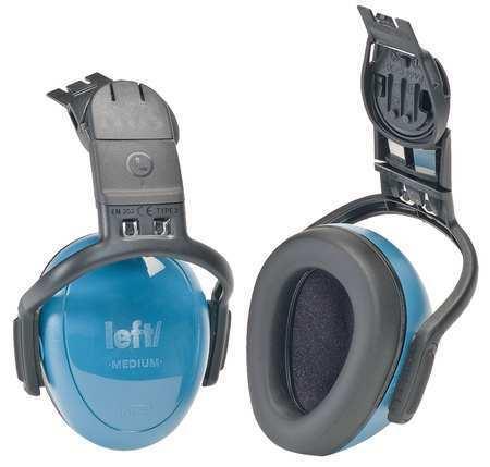 Msa 10087429 Hard Hat Mounted Ear Muffs, 25 Db, Left/Right, Blue