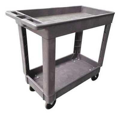 Zoro Select 5uth9 Polypropylene Utility Cart With Deep Lipped Plastic Shelves