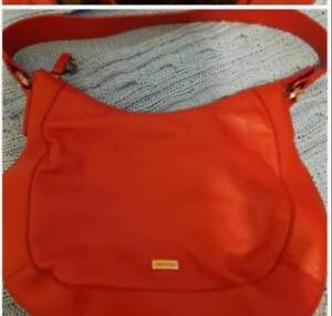 Oroton Red Soft Leather Handbag