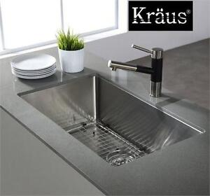 """NEW KRAUS UNDERMOUNT KITCHEN SINK 32"""" - Single Bowl 16 gauge Stainless Steel home improvement 79711348"""