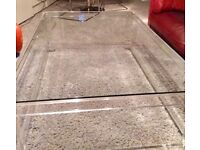 1970's Large Perspex/Glass Coffee Table
