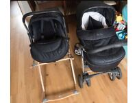 Open to offers Silver cross pushchair. Comes with car seat, Moses basket and all sheets and covers.