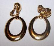 Monet Gold Hoop Earrings