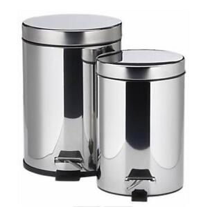 20L + 5L s.s. step on garbage can set