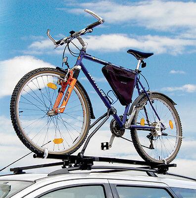 Lockable Car & 4x4 Roof Bar 1 Single 15kg Bike Bicycle Travel Rack Carrier - #C4