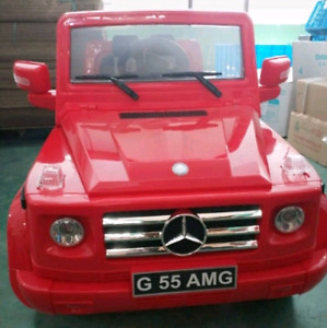 Mercedes G Wagon 2 seater 12V Ride on carrs Black red