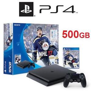NEW PS4 SLIM NHL 17 CONSOLE BUNDLE VIDEO GAMES SONY PLAYSTATION 4 500GB 113482260