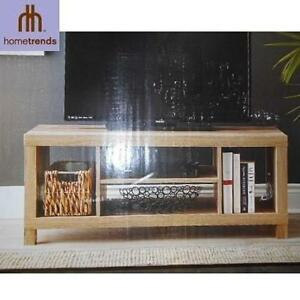 NEW HOMETRENDS TV STAND HOLLOW CORE TV STAND- RUSTIC OAK - FURNITURE STANDS MEDIA CONSOLE CONSOLES DECOR 100268240