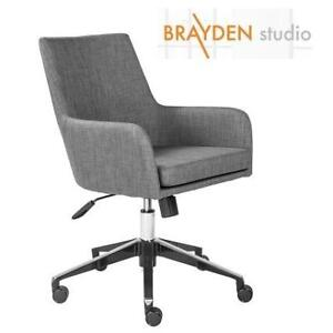 NEW BRAYDEN STUDIO OFFICE CHAIR BYST6493 175014650 SWIVEL GREY ADJUSTABLE HEIGHT WHEEL