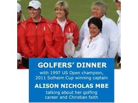 2nd June Golfers' Dinner with Alison Nicholas
