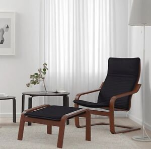Ikea Poäng leather chair and footstool sale - $268+tax @ Ikea
