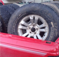 Ford ranger rims and tires $100