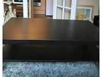 coffee table and 2 side tables black Ikea