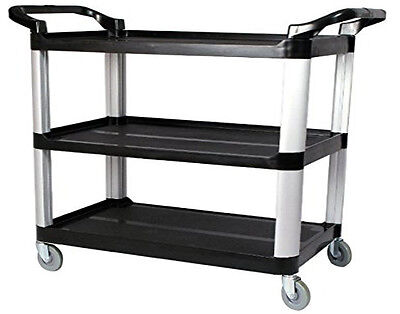 Utility Cart 3 Trays Wheals Large Size Af08161a