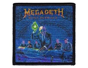 OFFICIAL LICENSED - MEGADETH - RUST IN PEACE ALIEN EMBROIDERED WOVEN PATCH METAL