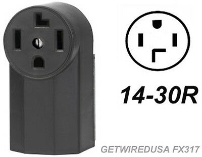 Dryer Wall Box - DRYER ELECTRIC WALL OUTLET FEMALE 14-30R 4-PRONG PLUG IN BOX 220 RECEPTACLE