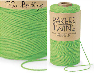 Lime Apple Green 4-ply 100% Cotton Baker's Twine *Your Choice of Length*](Baker's Twine)