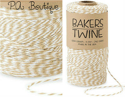 Kraft Tan & White Duo 4-ply 100% Cotton Baker's Twine *Your Choice of Length*](Baker's Twine)