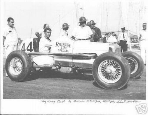 EMIL ANDRES  AUTOGRAPHED 11 X 14  INDY 500  PHOTO