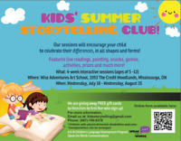 Sign your Child up for our Story Workshops and Get a FREE Gift!