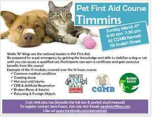 Walks 'N' Wags Pet First Aid Course- Timmins, March 6 2016