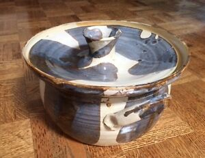 Vintage Covered Pottery Bowl