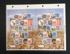 Stamps - GB Royal Mail 7 Smiler Sheets 2008