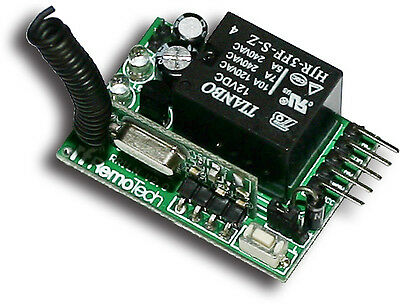 1CH Superheterodyne Wireless Relay Receiver-Momentary,Toggle,Latch On/OFF in One